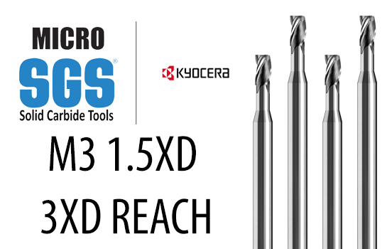 35588 Kyocera SGS Precision Tools 3//8 ENDMILL 3FL .060R 0.375 Cutting Dia 3 Overall Length 0.375 Shank Dia UNCoated Carbide 0.5 Length of Cut